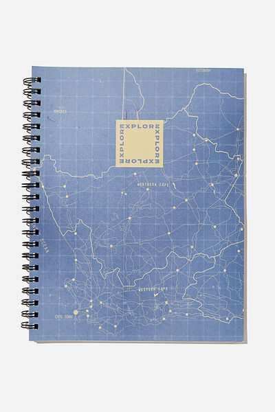 A4 Campus Notebook Recycled, RG SAF MAP ILLUSTRATION