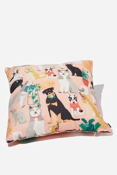 Printed Cushy Cushion, ANIMAL LOVER
