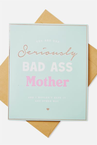 Mothers Day Cards 2018, BAS ASS MOTHER!