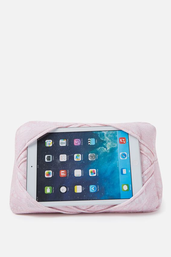 Tablet Cushion, BLUSH LACE