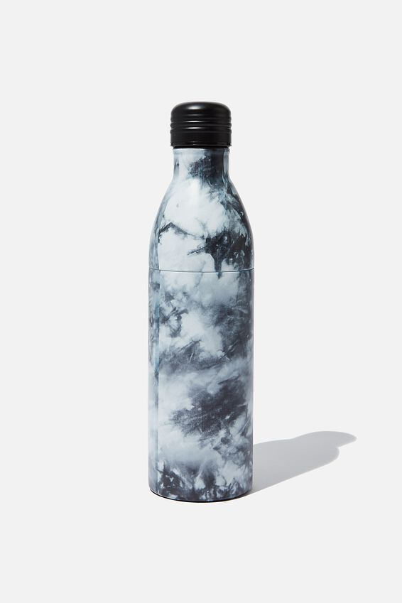 Two Piece Metal Drink Bottle, GREY TIE DYE