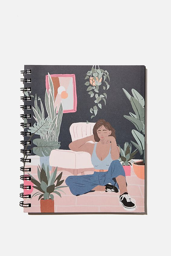 A5 Campus Notebook Recycled, PLANT LADY