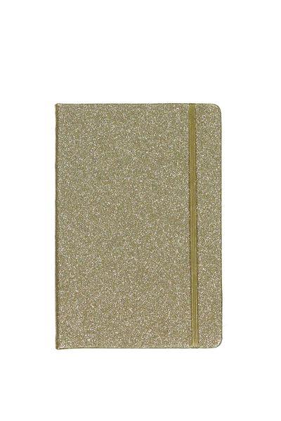 A5 Buffalo Journal, GOLD GLITTER