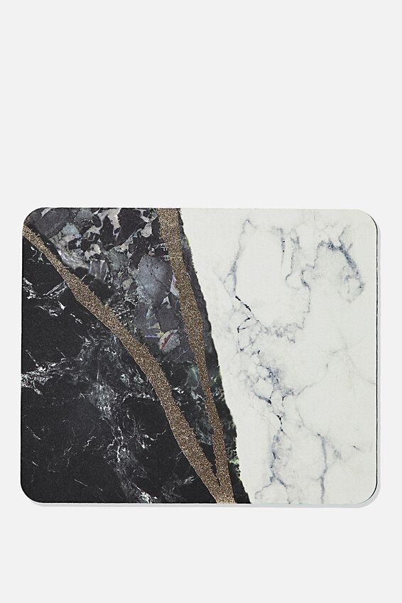 Neoprene Mouse Pad, RIPPED MARBLE