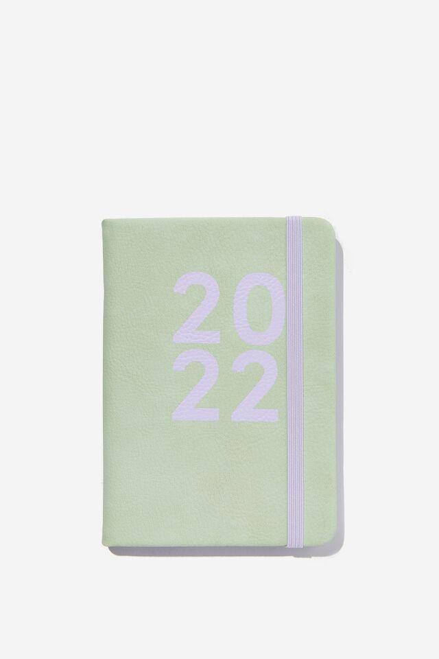 2022 A6 Weekly Buffalo Diary, SPRING MINT