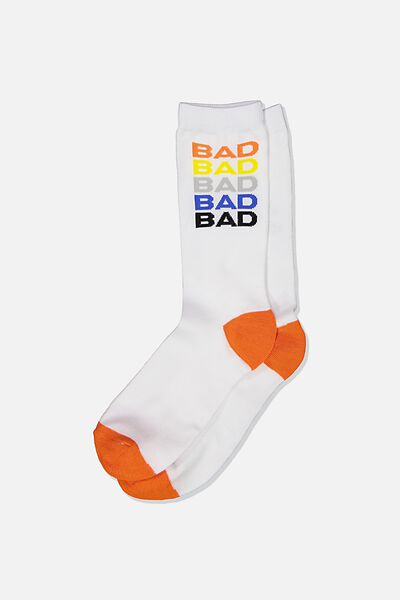 Mens Novelty Socks, BAD ASS STACKED!