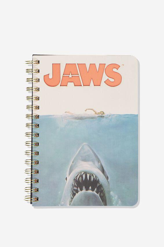 A5 Diecut Spiral Notebook, SHARK