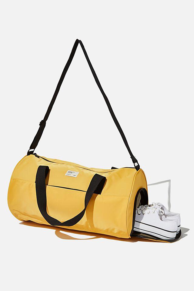 Premium Barrel Bag, MUSTARD AND KHAKI