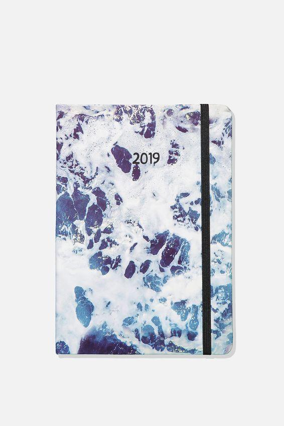 2019 A5 Weekly Buffalo Diary, OCEAN FOAM
