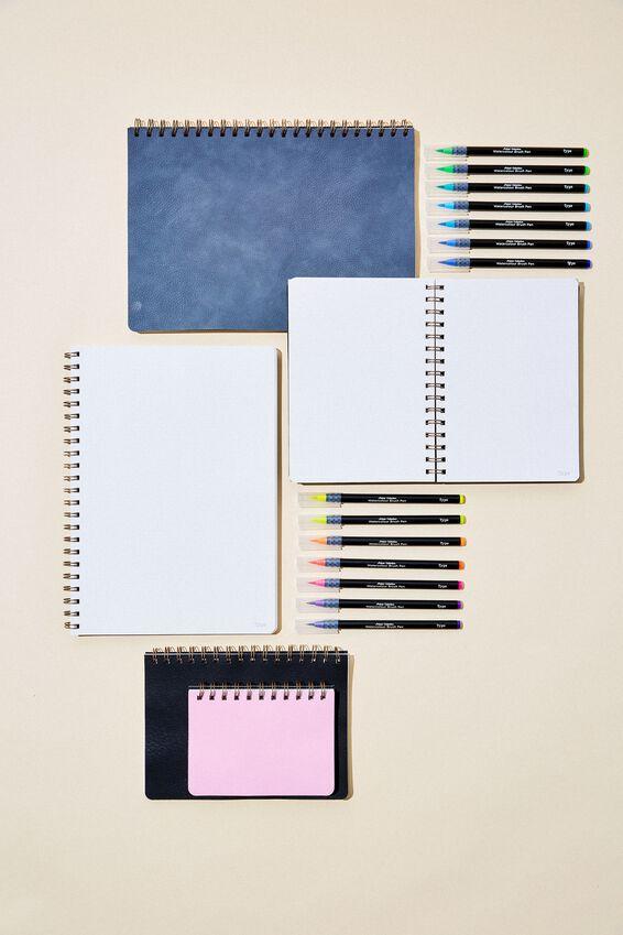 A5 Dot Daily Scribe Notebook, JET BLACK