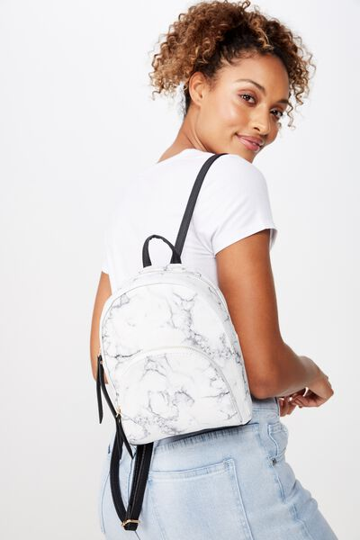 Sunset Mini Backpack, WHITE MARBLE