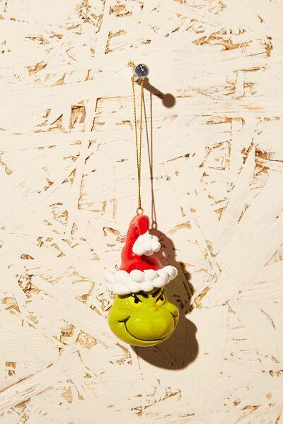 Resin Christmas Ornament, LCN DRS GRINCH