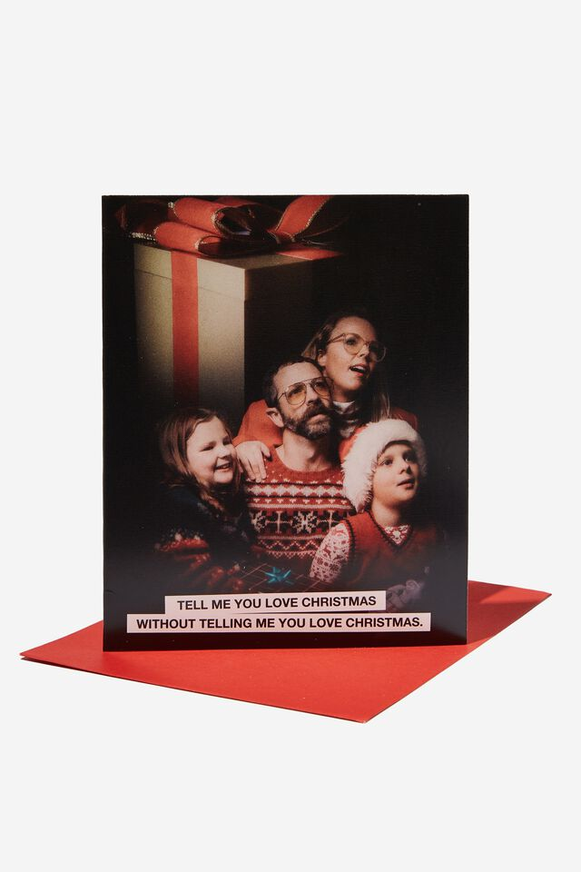 Christmas Card 2021, TELL ME YOU LOVE CHRISTMAS FAMILY PHOTO