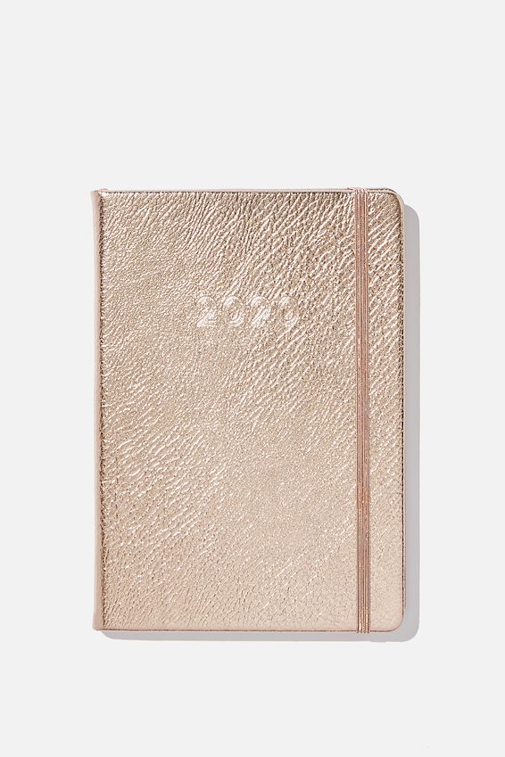 2020 A5 Weekly Buffalo Diary, ROSE GOLD