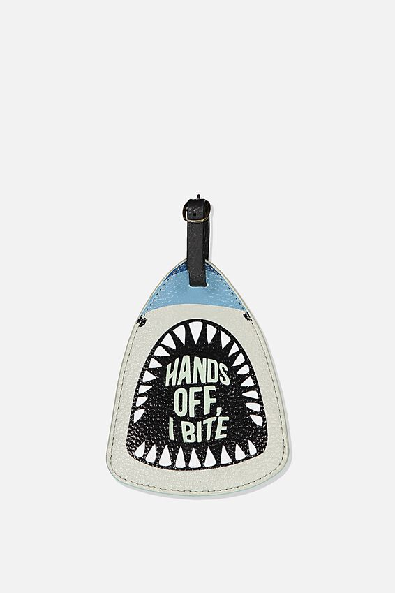 Shape Shifter Luggage Tag, NOVELTY SHARK