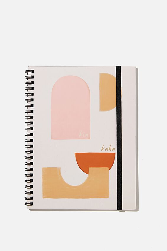 A5 Spinout Notebook Recycled, RG NZ SHAPES KIA KAHA