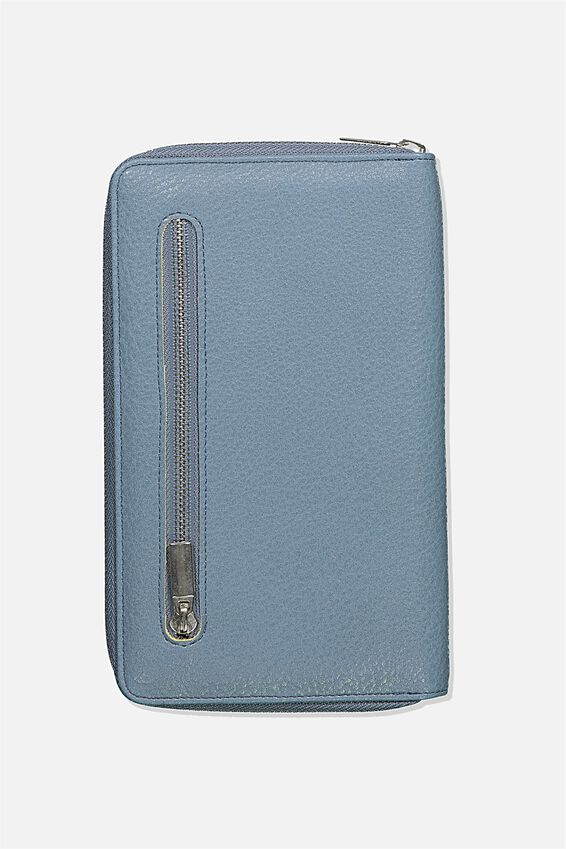 Rfid Odyssey Travel Compendium Wallet, PETROL BLUE MIX