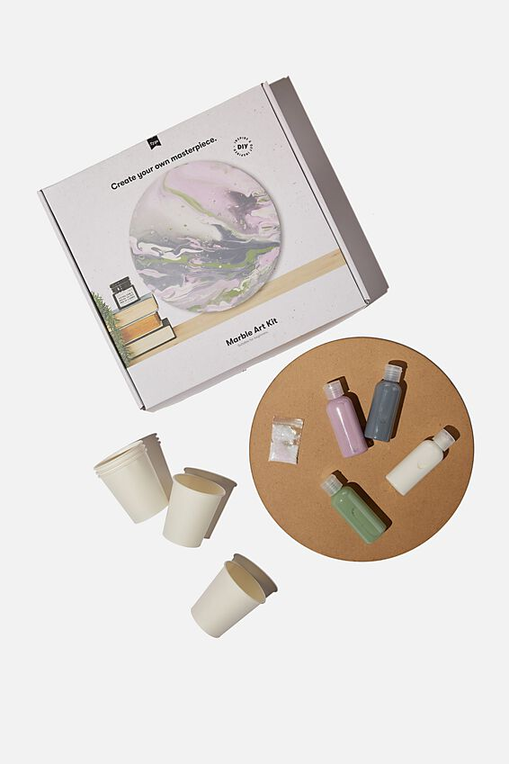 Marble Art Kit, MULTICOLOUR