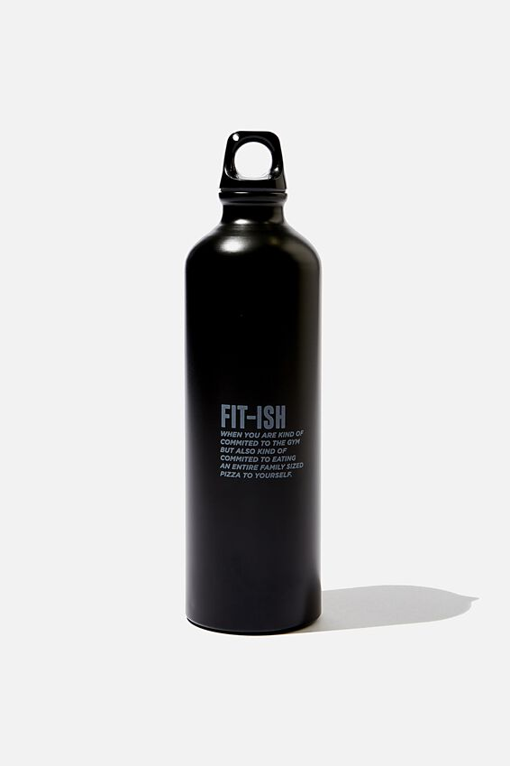 Single Wall Metal Drink Bottle, FITISH BLACK