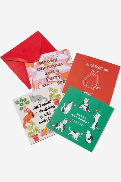 20 Christmas Card Pack 2019, CATS