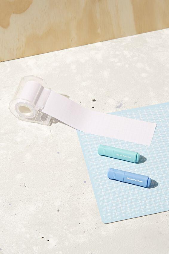Sticky Note Roll, BLUE LINED
