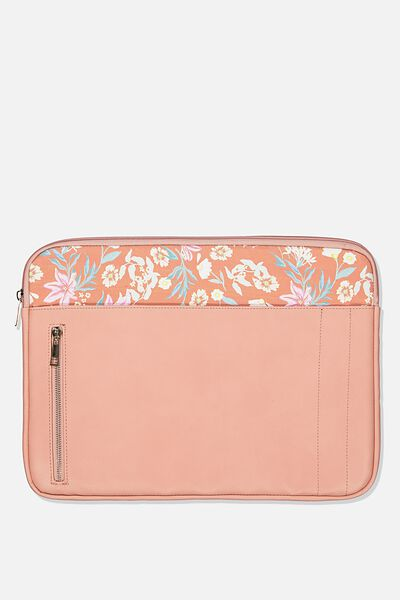 Take Charge 15 Inch Laptop Cover, DUSTY ROSE W GARDEN PARTY FLORAL