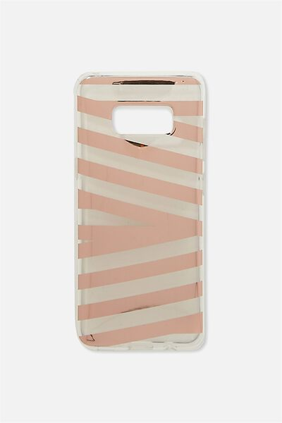 Phone Cover S8, ROSE GOLD STRIPE