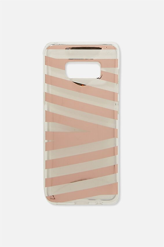 Phone Cover S8, ROSE GOLD STRIPE