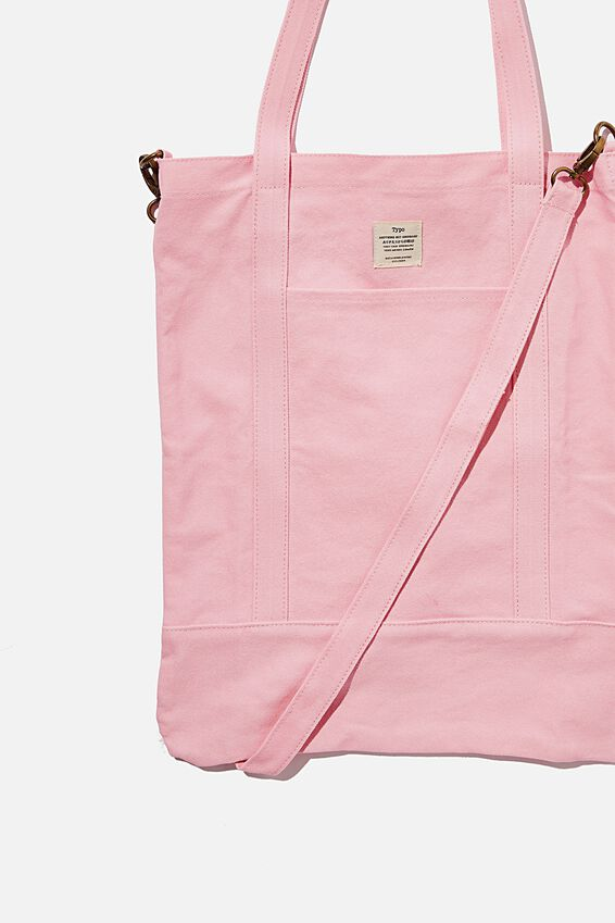 Book Tote Bag, PLASTIC PINK