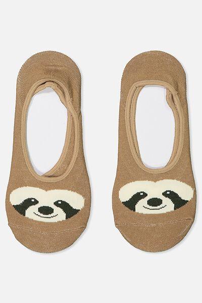 Novelty Hidden Sock, SLOTH