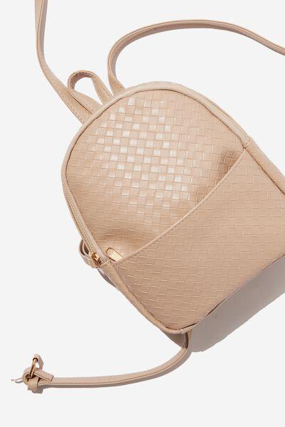 Mini Cairo Backpack, LATTE WEAVE