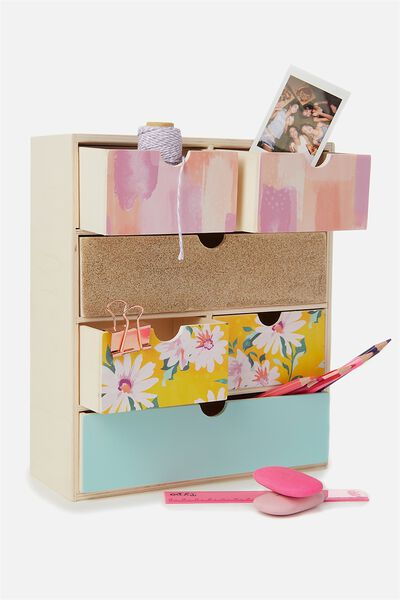 Multi Drawer Storage, FLORAL PATCHWORK