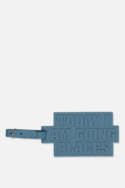 Silicone Luggage Tag, I AM GOING PLACES