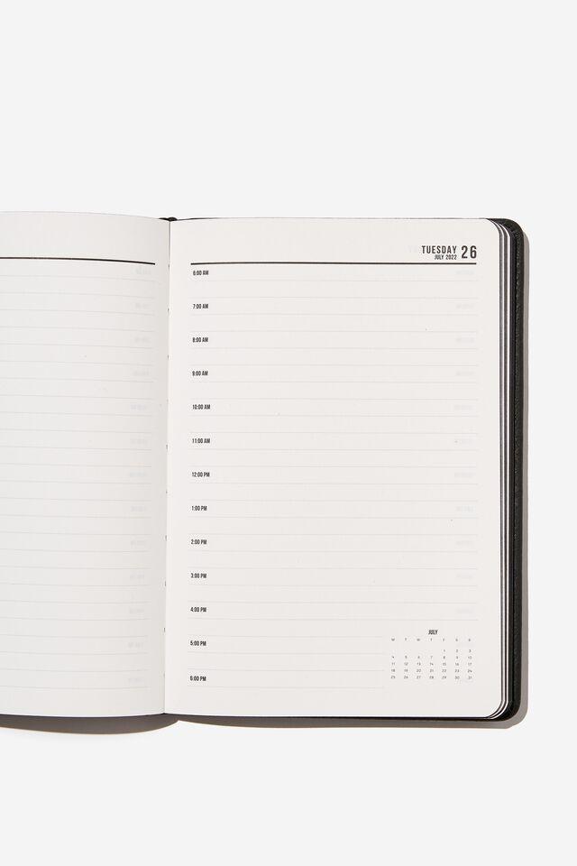 2022 A5 Daily Buffalo Diary, JET BLACK