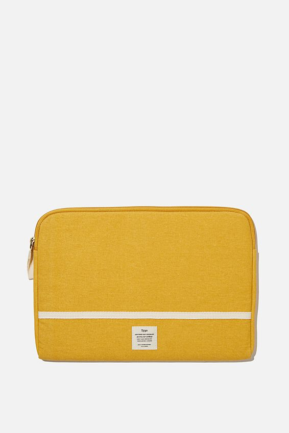 "Take Me Away 11"" Laptop Case, MUSTARD"