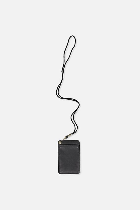 Printed Card Holder, BLACK