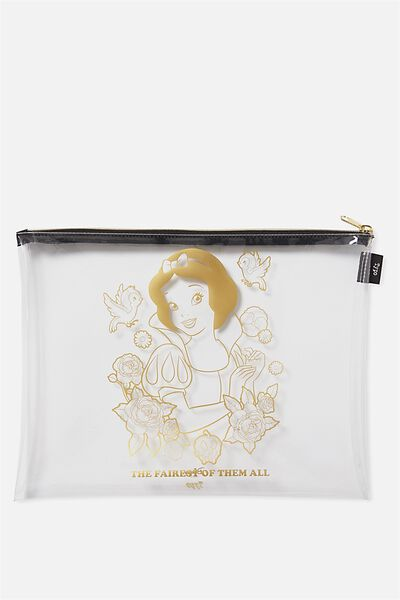 Printed Document Wallet, LCN SNOW WHITE