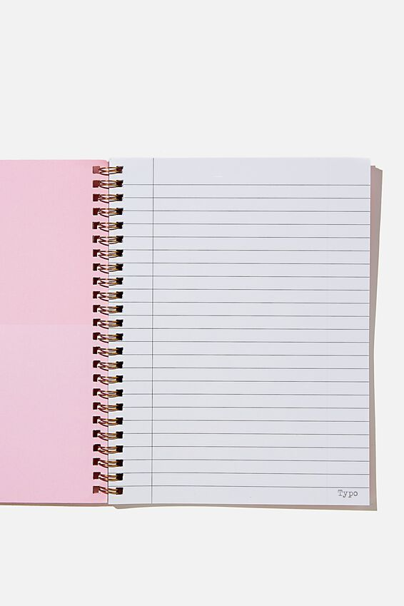 A5 Spinout Notebook Recycled, RETRO PINK