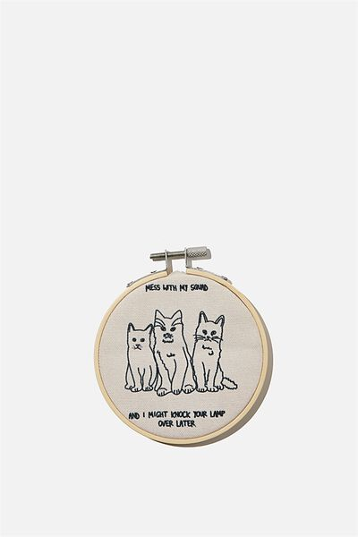Mini Hoop Wall Art, CAT SQUAD