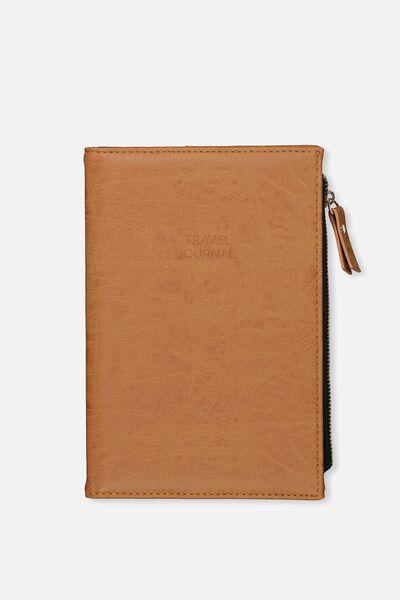 Travel Zip Journal, MID TAN MAP