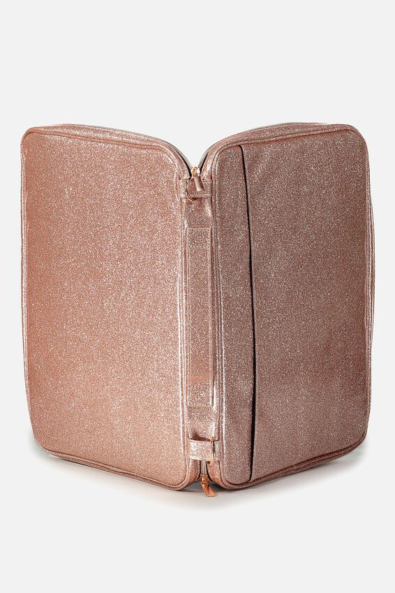 Mobile Laptop Folio, ROSE GOLD GLITTER