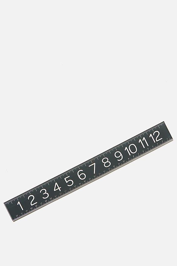 Thick Acrylic Ruler, WELSH SLATE