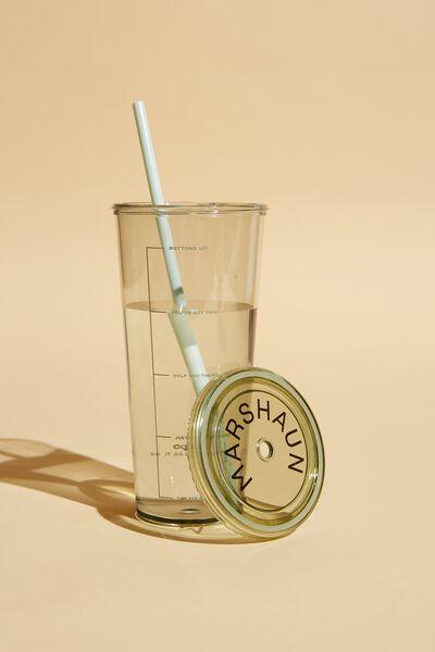Sipper Smoothie Cup Personalised, GUM LEAF