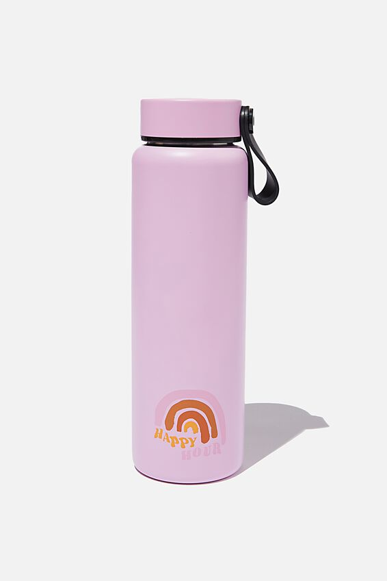 On The Move Metal Drink Bottle 500Ml, HAPPY HOUR