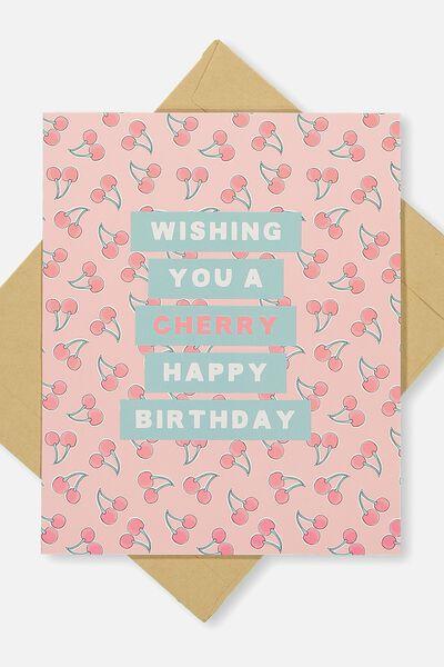 Nice Birthday Card, CHERRY HAPPY BIRTHDAY