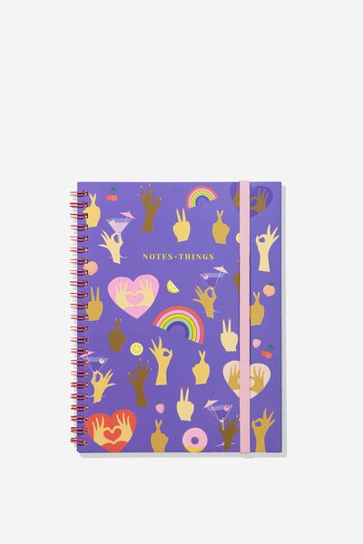 Small Spinout Notebook - V, HANDS UP NOTE THINGS