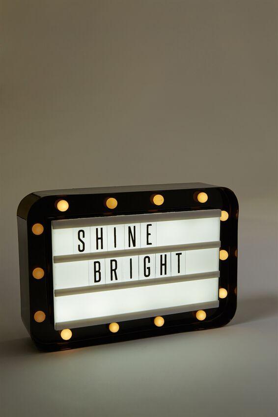 Marquee Light Box, BLACK