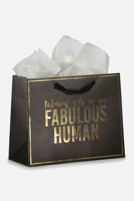 Medium Gift Bag with Tissue Paper, FABULOUS HUMAN