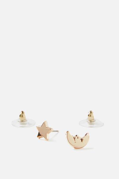 Novelty Earrings, STAR & MOON