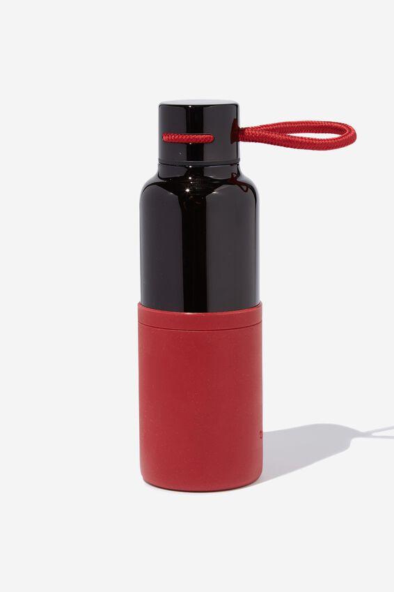 The Loop Metal Drink Bottle, RED & BLACK